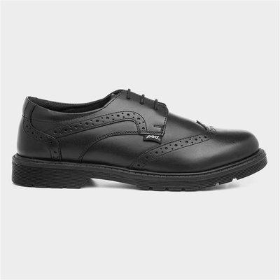 Pod Lorrie Black Leather Brogue Shoe