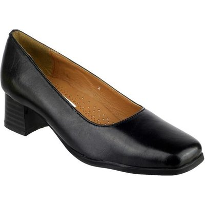 Amblers Womens Walford Leather Court in Black