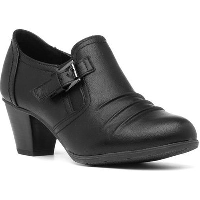 Lotus Patsy Womens Black Court Shoe