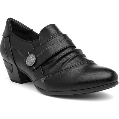 Jana Softline Womens Black Heeled Court Shoe