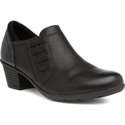 Relife Womens Black Heeled Court Shoe