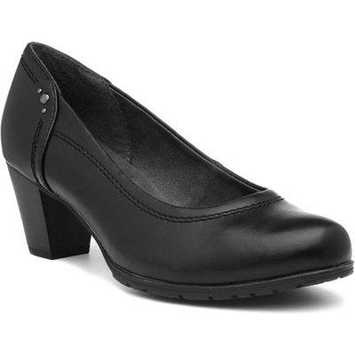 Jana Softline Womens Heeled Black Court Shoe