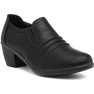 Cushion Walk Lara Womens Black Court Shoe