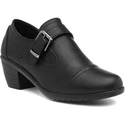Cushion Walk Rosie Womens Black Court Shoe