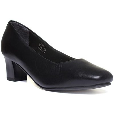 Comfort Plus Karla Womens Black Court Shoe