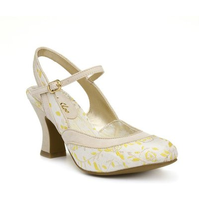 Ruby Shoo Lucia Womens Cream And Yellow Court Shoe