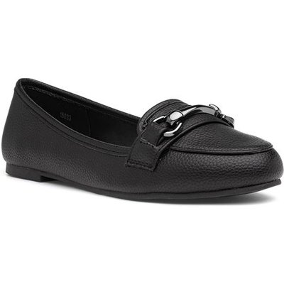 Lilley Womens Slip On Loafer in Black