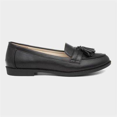 Lilley Womens Black Matte Loafer