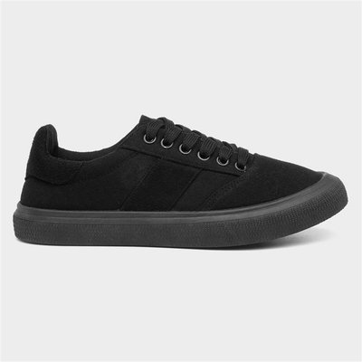 BLU Womens Black Lace Up Canvas