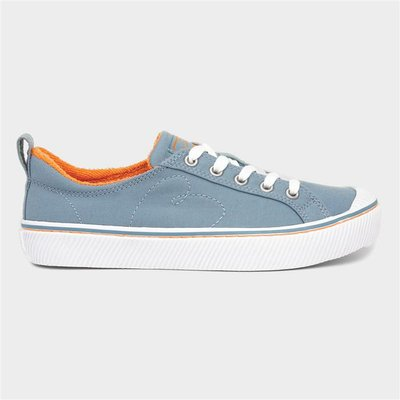 Skechers Bobs Wild Lace Up Canvas in Blue