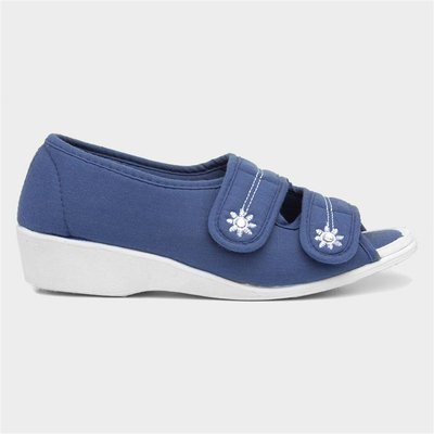 Softlites Womens Navy Wedge Comfort Sandal