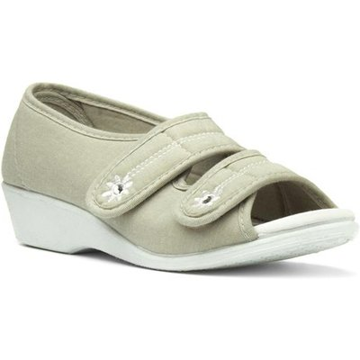 Softlites Womens Wedge Comfort Sandal in Beige