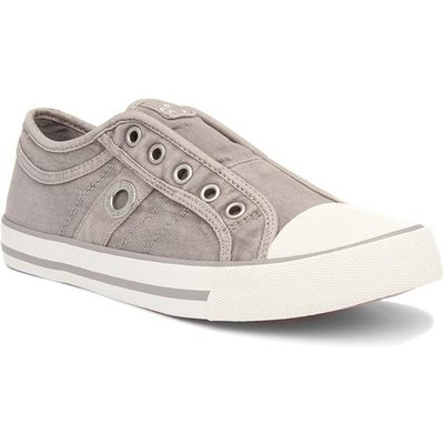 S Oliver Womens Light Grey Canvas Shoe
