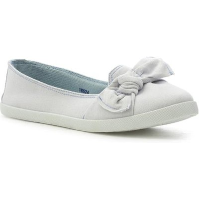 Lilley Womens White Canvas with Side Knot