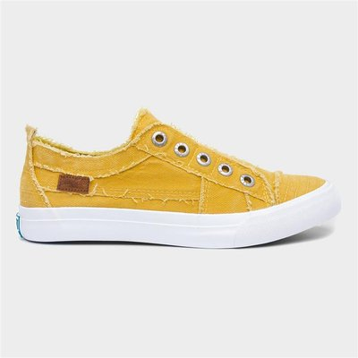 Blowfish Malibu Play Womens Yellow Slip On Canvas