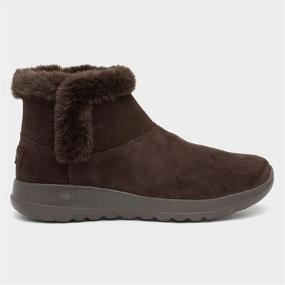 Skechers On-The-Go Joy Bundle Up Womens Brown Boot