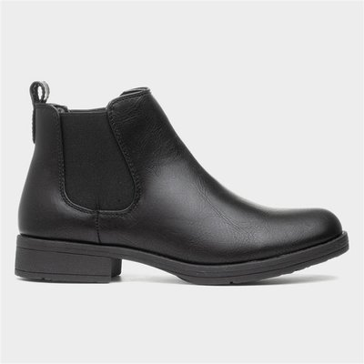 Lilley Womens Black Chelsea Pull On Boot