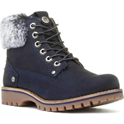 Wrangler Alaska Womens Navy Lace Up Ankle Boot