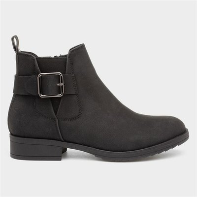 Lilley Womens Buckle Black Chelsea Boot