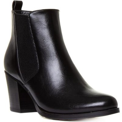 Lilley And Skinner Womens Black Heeled Chelsea Boot