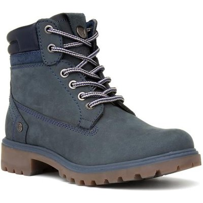 Wrangler Creek Womens Navy Lace Up Ankle Boot