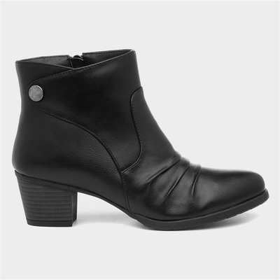 Lilley Womens Heeled Ankle Boot in Black