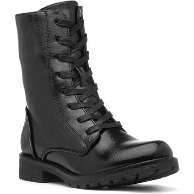 Heavenly Feet Chloe Womens Black Lace Up Boot