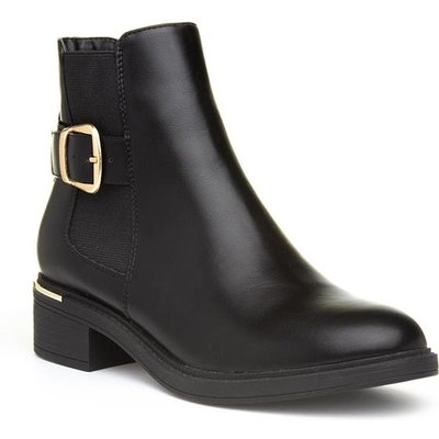 Lilley And Skinner Womens Black Buckle Ankle Boot