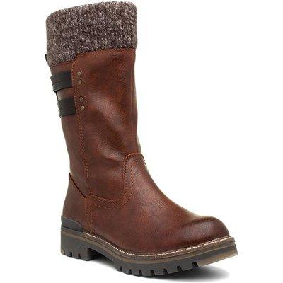 Jana Softline Womens Brown Calf Boot
