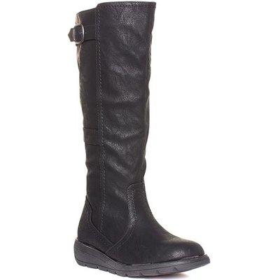 Heavenly Feet Saturn Womens Black Long Leg Boot