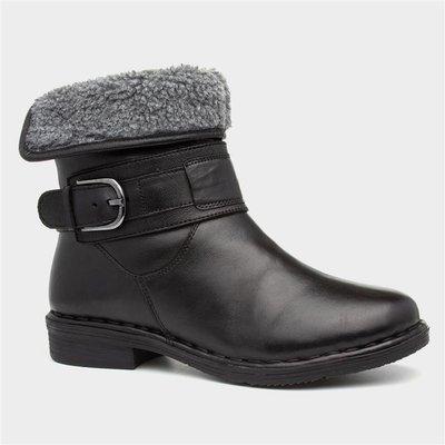 Lotus Matterhorn Womens Black Leather Ankle Boot
