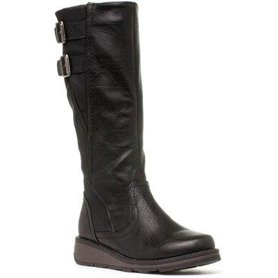 Heavenly Feet Tyrell Womens Black Knee High Boot
