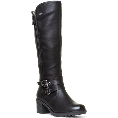 Relife Womens Black Buckle Boots