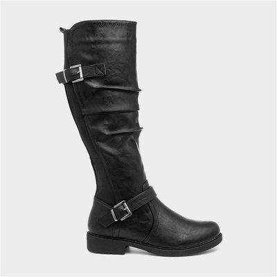 Cushion Walk Zoe Womens Black Knee High Boot