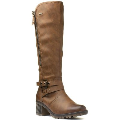 Relife Womens Brown Heeled Boots