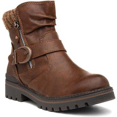 Jana Softline Chestnut Womens Brown Ankle Boot