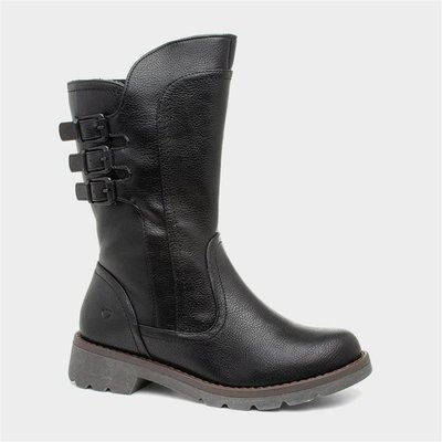 Heavenly Feet Melody Womens Black Calf Boot