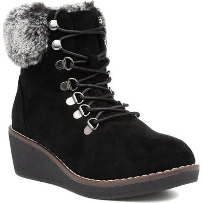 Lunar Windsor Womens Black Lace Up Ankle Boot