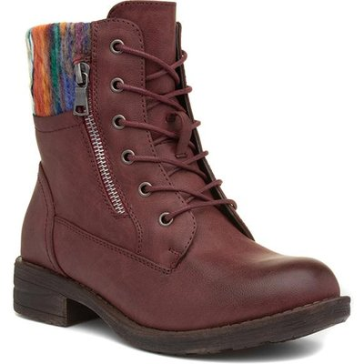 Lilley And Skinner Womens Burgundy Ankle Boot