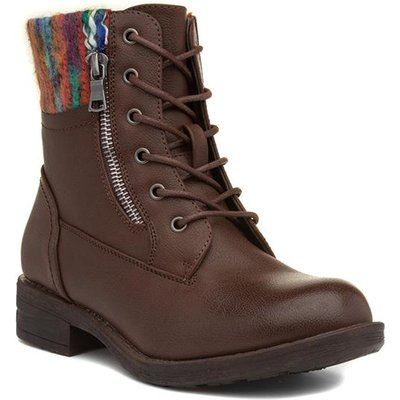 Lilley And Skinner Womens Brown Lace Up Ankle Boot