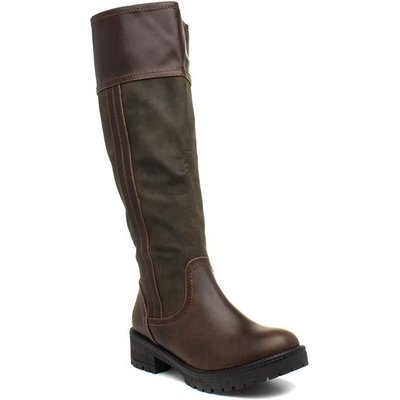 Heavenly Feet Burley Womens Brown Riding Boot