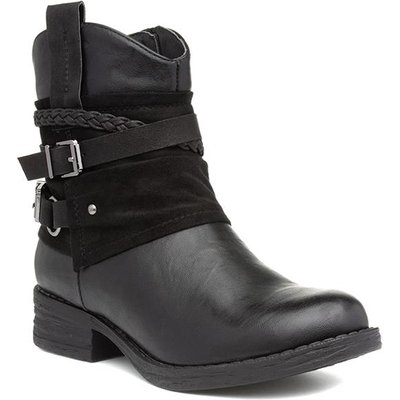 Lilley And Skinner Womens Black Buckled Ankle Boot