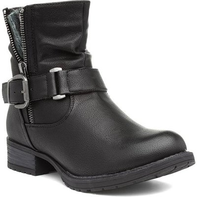 Lilley And Skinner Womens Buckled Black Ankle Boot