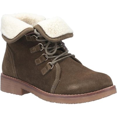 Hush Puppies Womens Milo Zip Ankle Boot in Green