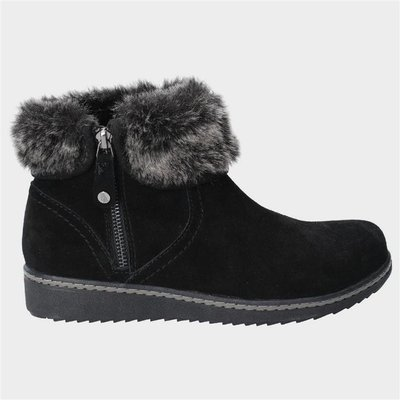 Hush Puppies Womens Penny Zip Ankle Boot in Black