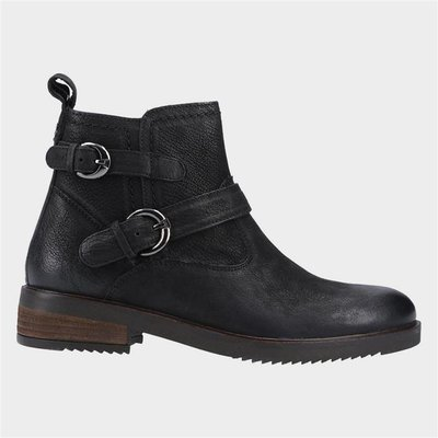 Hush Puppies Womens Beth Ankle Boots in Black