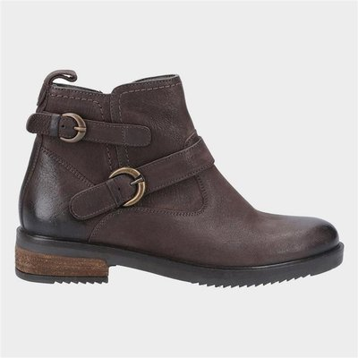 Hush Puppies Womens Beth Ankle Boots in Brown