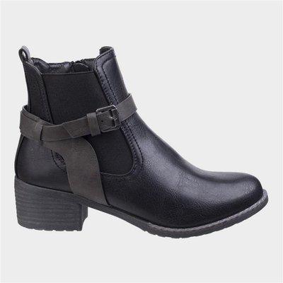 Divaz Womens Ivana Block Heel Ankle Boot in Black