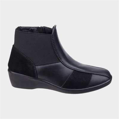 Fleet And Foster Womens Festa Ankle Boot in Black