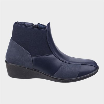 Fleet And Foster Womens Festa Ankle Boot in Navy